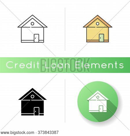 House Icon. Home Front. Building Exterior. Residential Construction. Real Estate. Private Suburb Pro