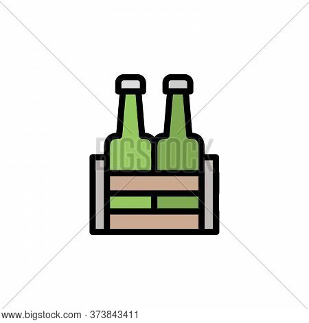 Beer. Beer Box Colored Icon. Simple Color Element Illustration. Beer. Beer Box Concept Outline Symbo