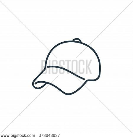 cap icon isolated on white background from clothes and outfit collection. cap icon trendy and modern