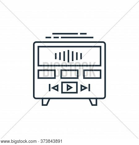 music player icon isolated on white background from technology devices collection. music player icon