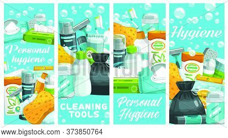 Personal Hygiene Products, Cleaning Tools. Wipes And Napkins, Shampoo, Shaving Foam, Deodorant And M