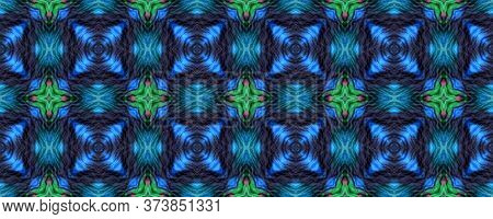 Original Tile Template.  Majolica Tiles Print. Mottled Floral Print. Green Seamless Mexican Mosaic D
