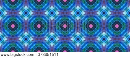 Original Tile Template.  Majolica Tiles Print. Ogee Geo Border. Solid Seamless Santorini Pattern Ori