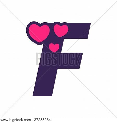 Simple And Cute Illustration Logo Design Initial F Love.