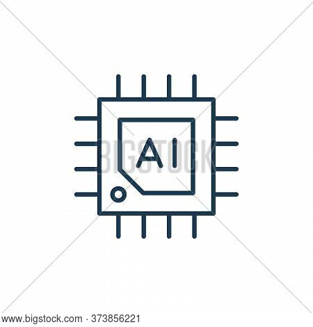 chip icon isolated on white background from robotics collection. chip icon trendy and modern chip sy