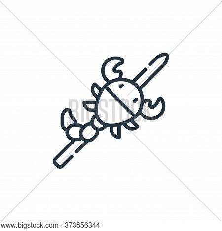 scorpion icon isolated on white background from animal welfare collection. scorpion icon trendy and