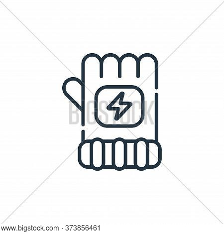 glove icon isolated on white background from electrician tools and elements collection. glove icon t