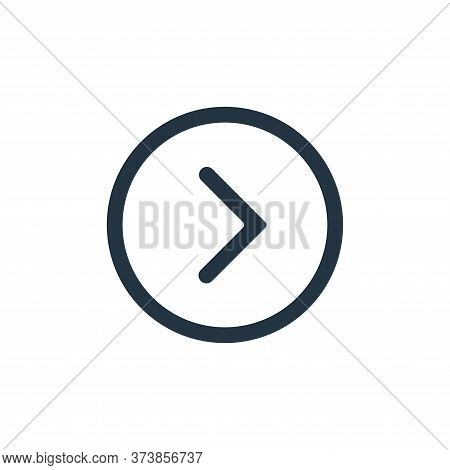 right icon isolated on white background from interface collection. right icon trendy and modern righ