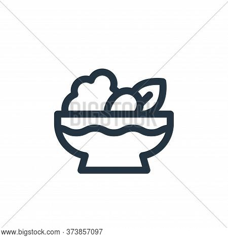 salad icon isolated on white background from gastronomy collection. salad icon trendy and modern sal