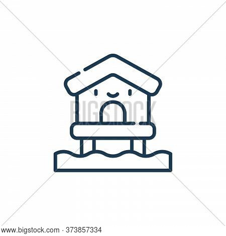 beach house icon isolated on white background from reggae collection. beach house icon trendy and mo