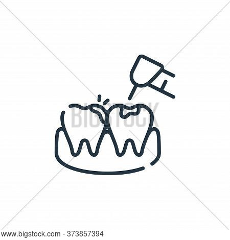 Cavities Vector Icon From Dental Care Collection Isolated On White Background