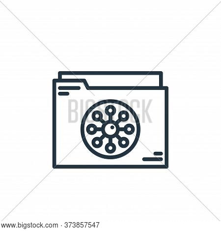 folder icon isolated on white background from virus collection. folder icon trendy and modern folder