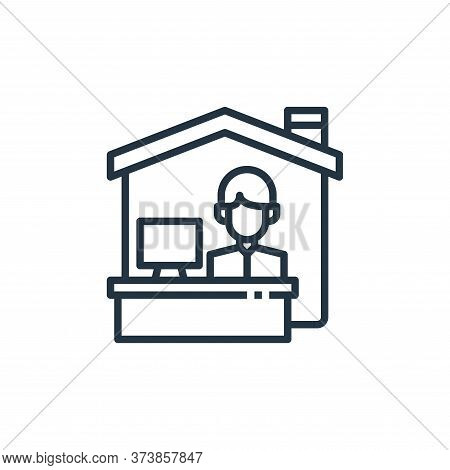 working at home icon isolated on white background from work from home collection. working at home ic