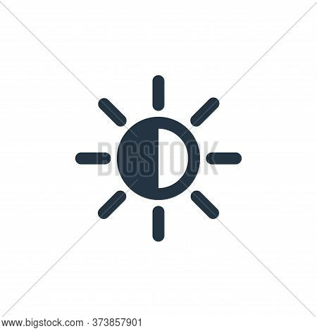 contrast icon isolated on white background from user interface collection. contrast icon trendy and