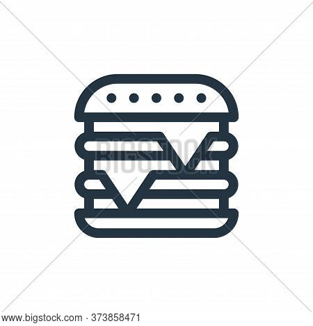 burger icon isolated on white background from gastronomy collection. burger icon trendy and modern b