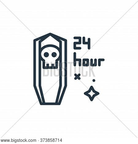 funeral icon isolated on white background from mass disinfection collection. funeral icon trendy and