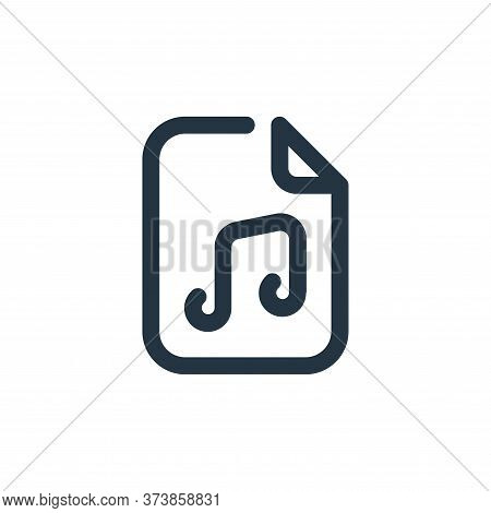 music icon isolated on white background from sound collection. music icon trendy and modern music sy