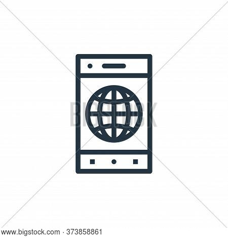 internet icon isolated on white background from business collection. internet icon trendy and modern