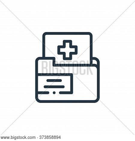 medical folder icon isolated on white background from medicine collection. medical folder icon trend
