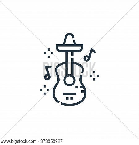 guitar icon isolated on white background from cinco de mayo collection. guitar icon trendy and moder