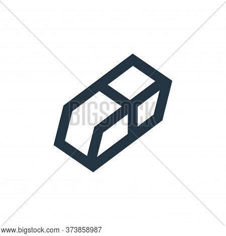 eraser icon isolated on white background from office stationery collection. eraser icon trendy and m