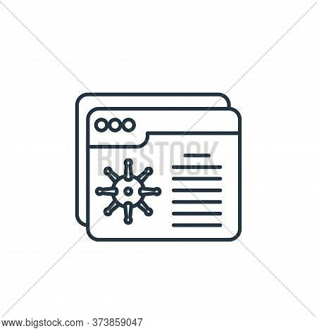 browser icon isolated on white background from coronavirus collection. browser icon trendy and moder