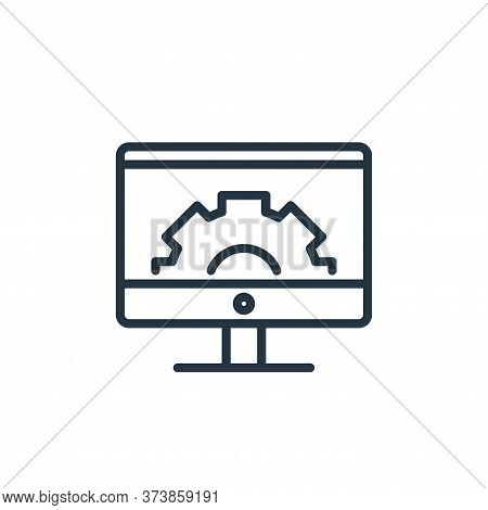 monitor icon isolated on white background from engineering collection. monitor icon trendy and moder
