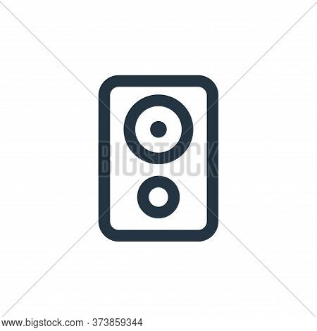 speaker icon isolated on white background from electronic and device collection. speaker icon trendy