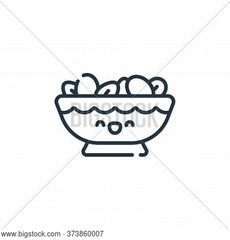 nuts icon isolated on white background from ramadan collection. nuts icon trendy and modern nuts sym