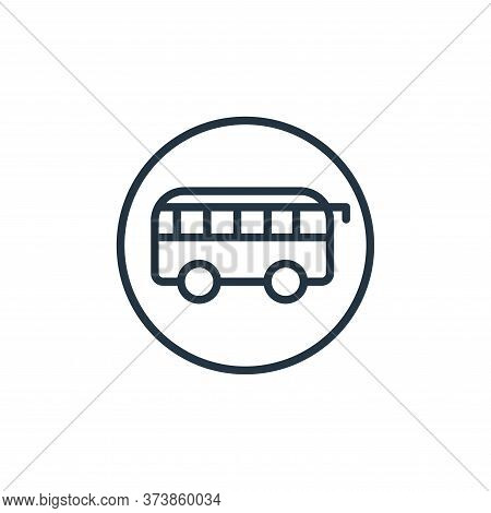 bus icon isolated on white background from stop virus collection. bus icon trendy and modern bus sym
