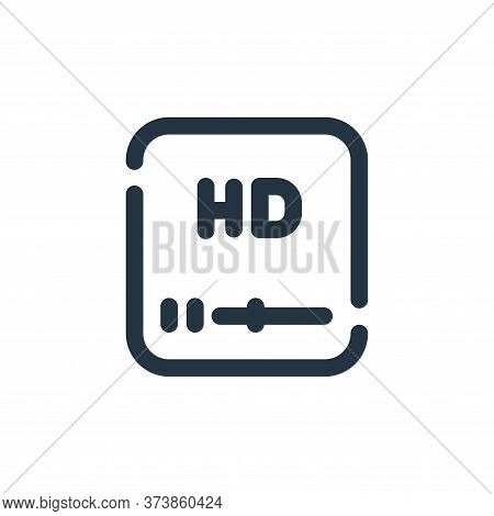 high definition icon isolated on white background from video collection. high definition icon trendy
