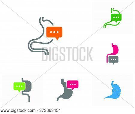 Set Of Consult Stomach Logo Vector Template, Creative Stomach Logo Design Concepts