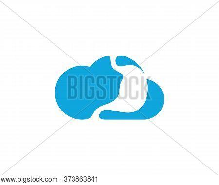 Cloud Stomach Logo Vector Template, Creative Stomach Logo Design Concepts