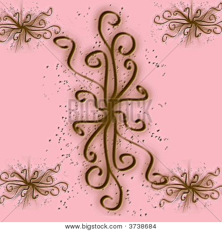 Pink And Brown Background