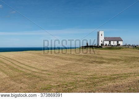 Ballintoy, Northern Ireland- Jun 20, 2020:the Old Ballintoy Church Of Ireland Church On The Antrim C