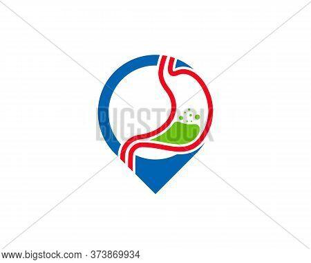 Stomach Point Logo Vector Template, Creative Stomach Logo Design Concepts