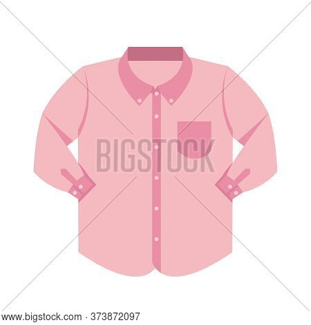 Plain Shirt Clothes Pink Pastel Color Isolated On White, Pink Clothes Plain, Clip Art Clothing Long