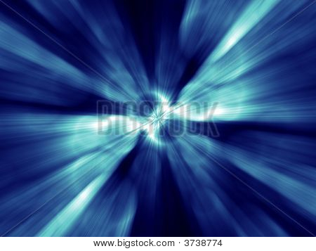 Fantasy Alien Unknown Blue Abstract