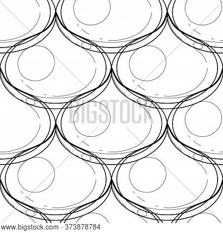 Seamless Graphic Pattern Of Golden Oil Droplets.