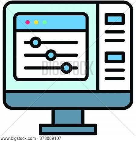 Adjustment, Telecommuting Or Remote Work Related Icon, Vector Illustration