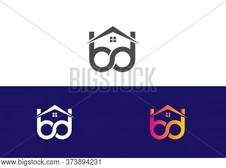 Real Estate And Construction Bd Logo Design For Business Corporate Sign With Creative Modern Trendy