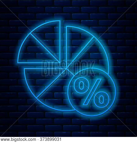 Glowing Neon Line Math System Of Equation Solution On Speech Bubble Icon Isolated On Brick Wall Back