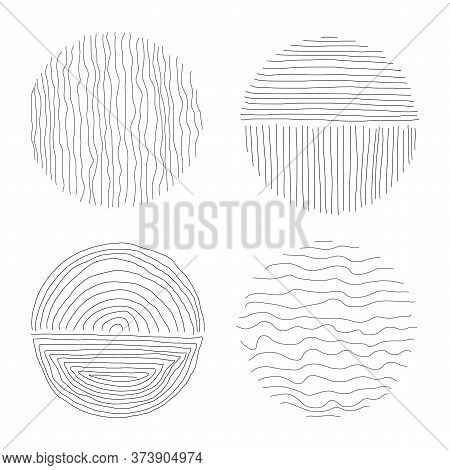 Set Of Hand Drawn Line Art Abstract Graphic Elements For Decoration