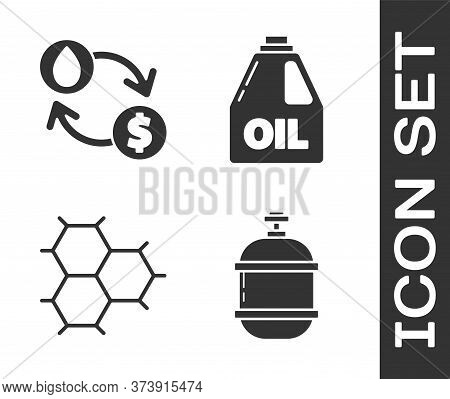 Set Propane Gas Tank, Oil Exchange, Water Transfer, Convert, Chemical Formula Consisting Of Benzene