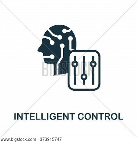 Intelligent Control Icon. Creative Simple Design From Artificial Intelligence Icons Collection. Fill