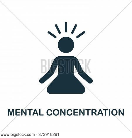 Mental Concentration Icon. Simple Element From Productive Work Collection. Creative Mental Concentra