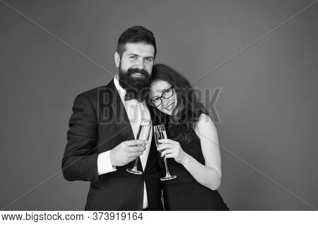 Happy Marriage Anniversary. Love Concept. Celebrating Their Love. Occasion To Celebrate. Couple In L