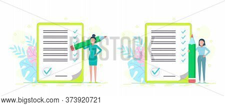 business people.Entrepreneur checklist. business people.Set illustrations. Successful woman checking task success, completed business tasks.Business people. Business background. Infographic business arrow shape template design. Business background.busines