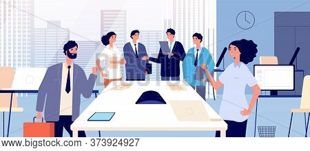 Business Agreement. Business People Shaking Hands. Respect Partnership And Relationship. Corporate O