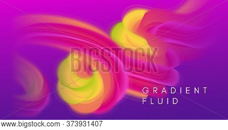 Vibrant Design. 3d Gradient Movement. Abstract Pattern. Liquid Digital Vibrant Design. Geometric Neo